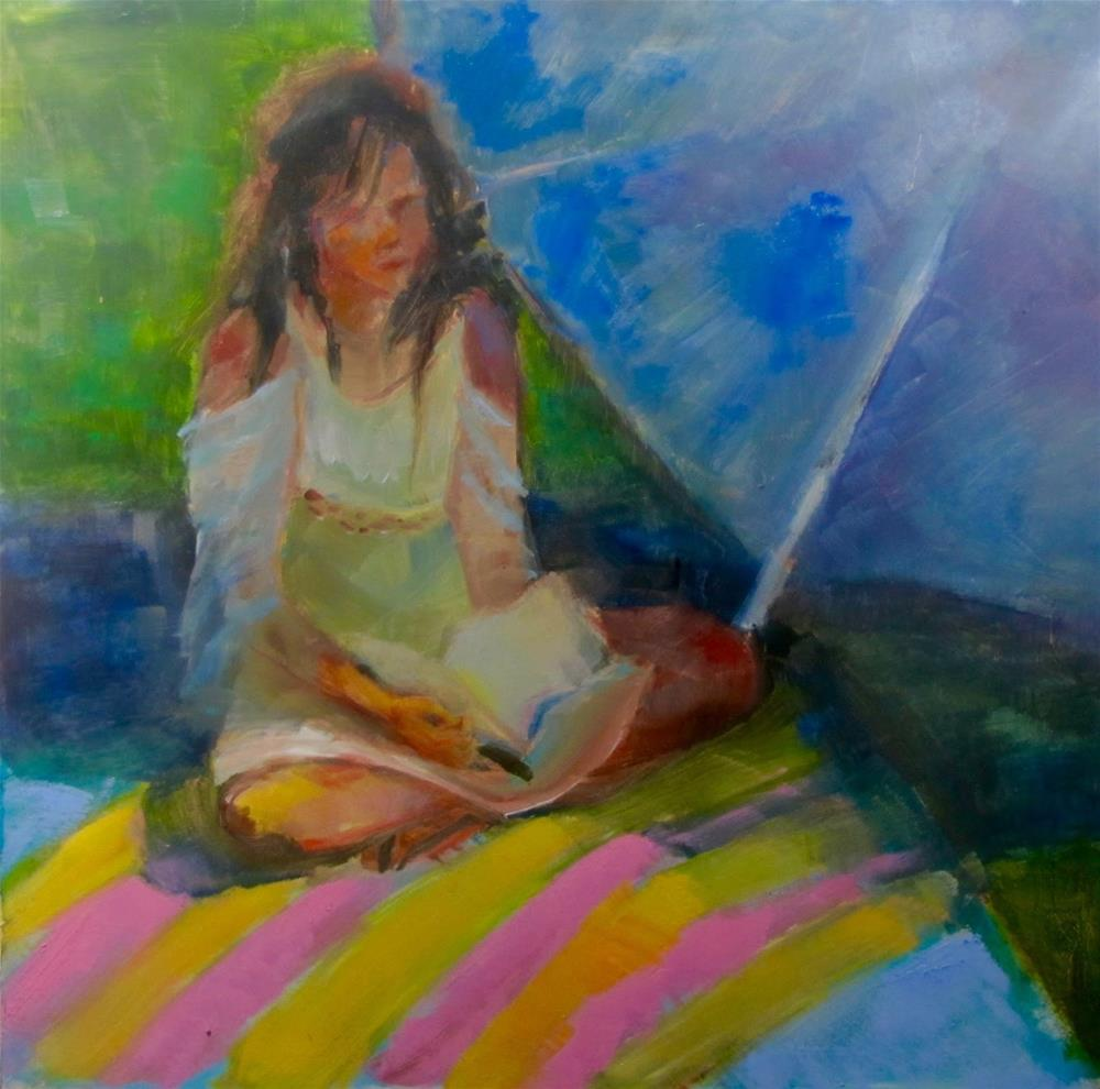 """Reading"" original fine art by Christine Holzschuh"