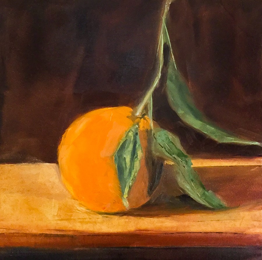 """#100 - Mandarin Orange"" original fine art by Sara Gray"