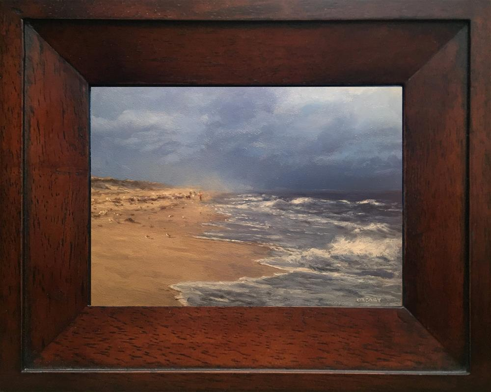 """Afternoon Beach Walk"" original fine art by Danny O'Leary"