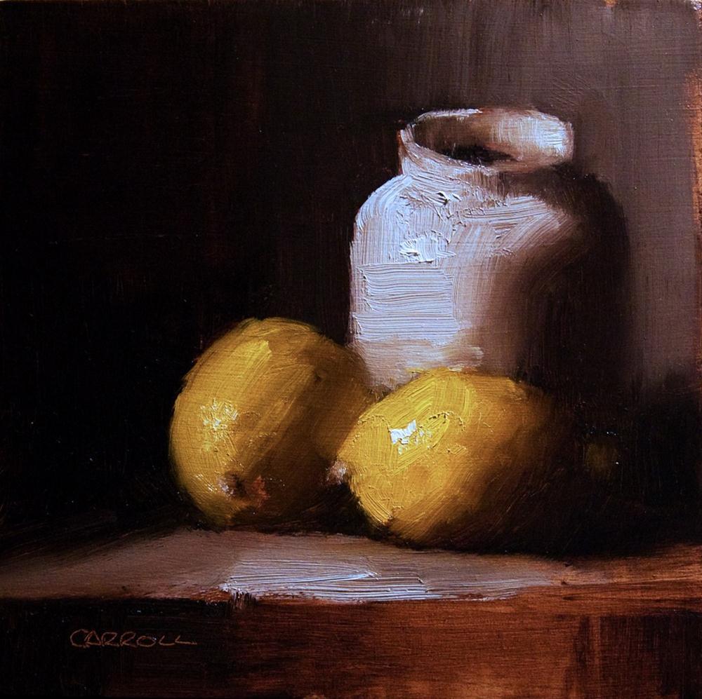 """Lemons with Ink Pot"" original fine art by Neil Carroll"