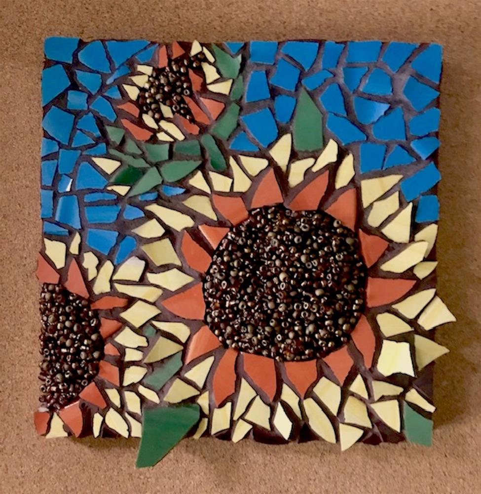 """Sunflower Mosaic"" original fine art by Joetta Currie"