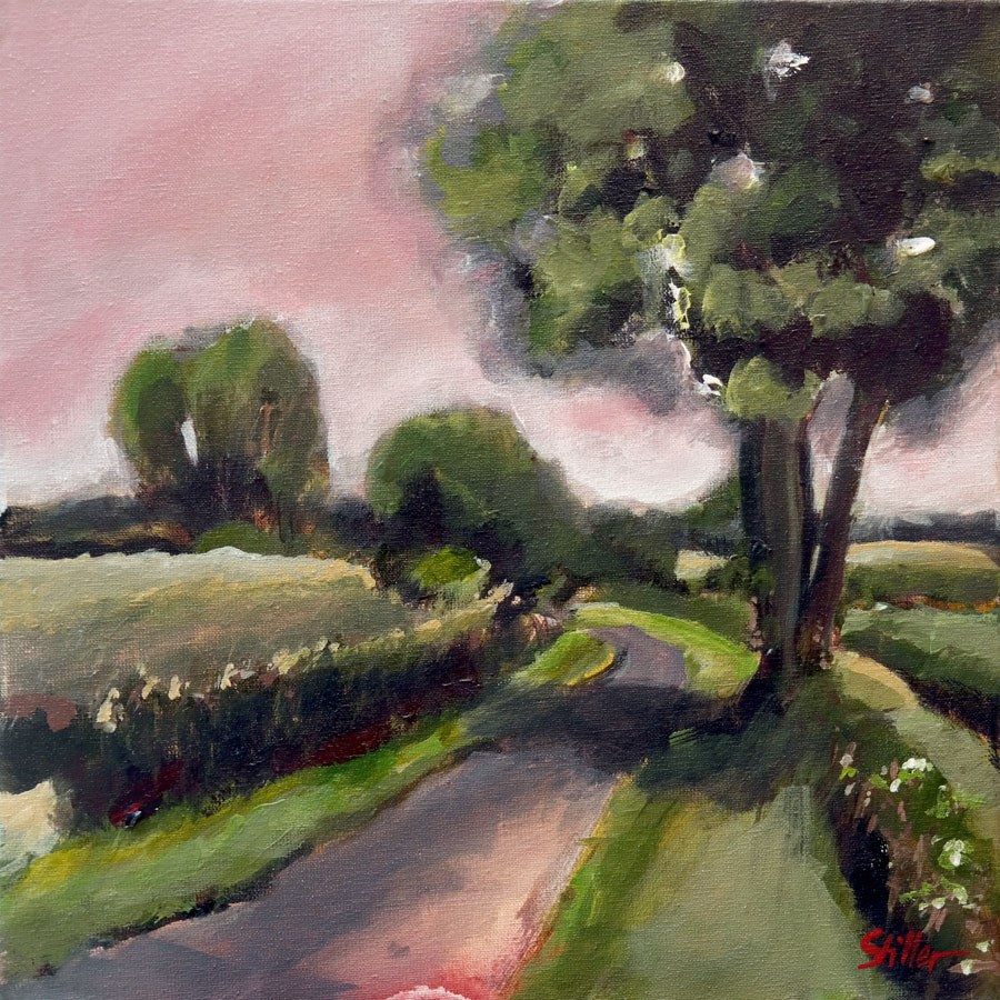 """1766. Pink Weather"" original fine art by Dietmar Stiller"