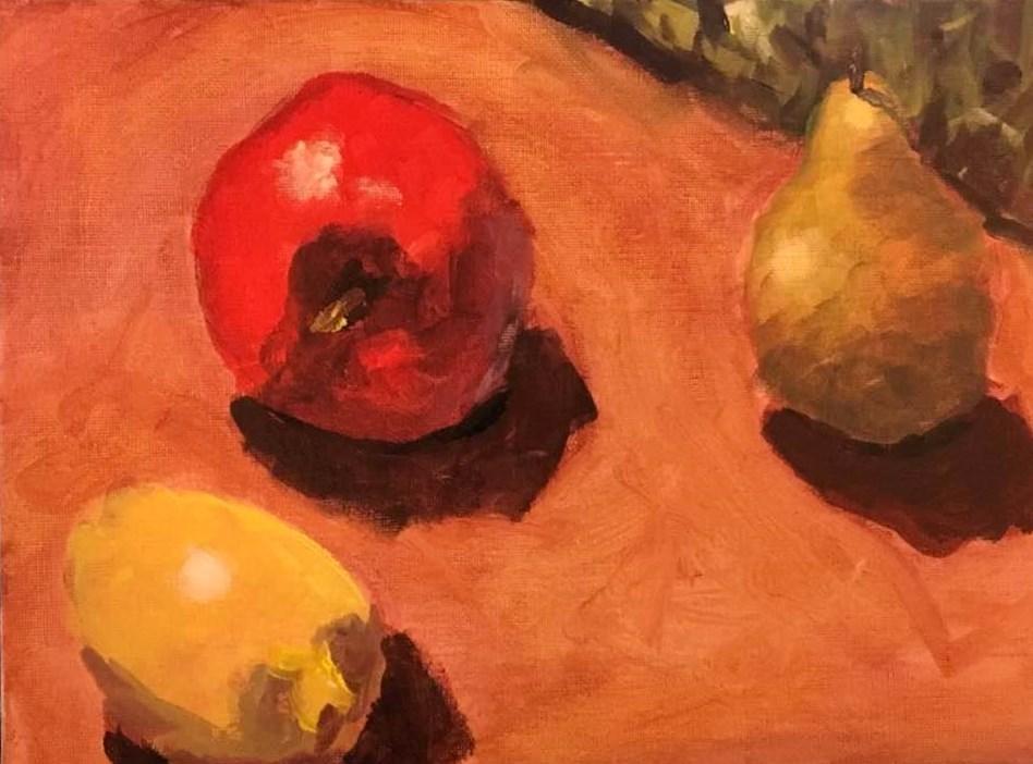 """Fruit Still Life"" original fine art by Susan Elizabeth Jones"