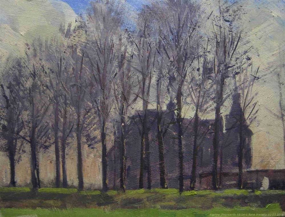 """Castle Doorwerth The Netherlands."" original fine art by René PleinAir"