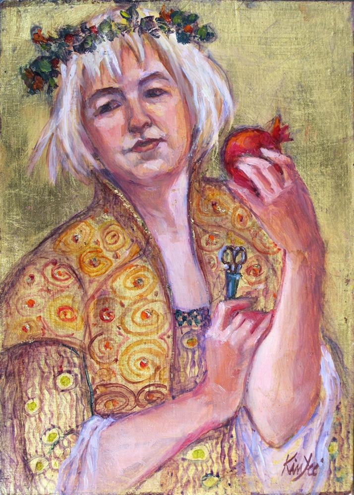 """Sally as Persephone"" original fine art by Myriam Kin-Yee"