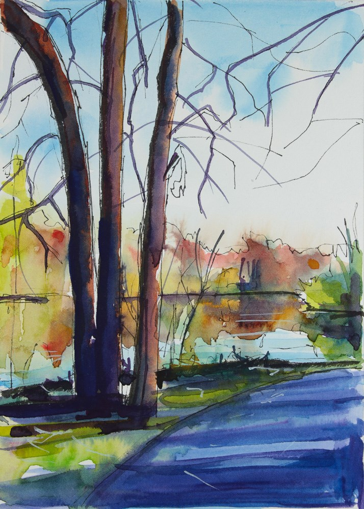"""Trail at Walton Woods"" original fine art by Chris Breier"