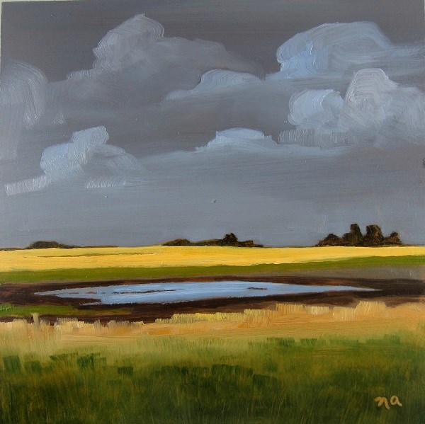 """Canola And Low Laying Field"" original fine art by Nicki Ault"