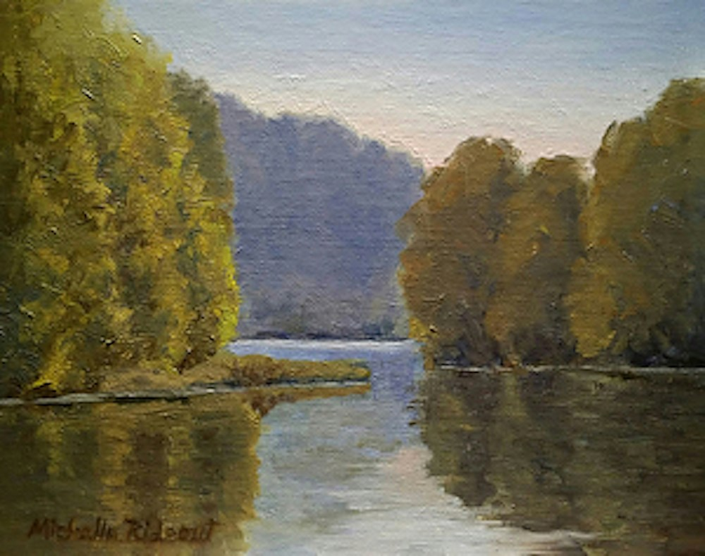 """""""Just Around the River Bend"""" original fine art by Michelle Rideout"""