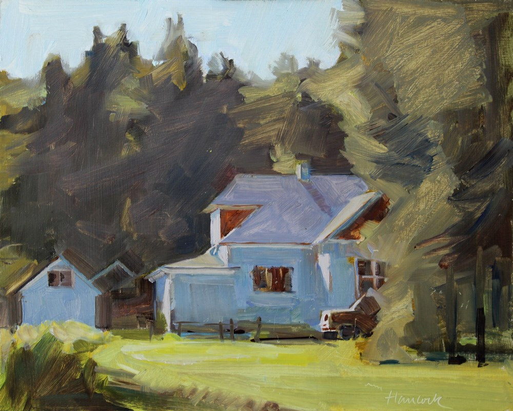 """Vashon Farmhouse"" original fine art by Gretchen Hancock"