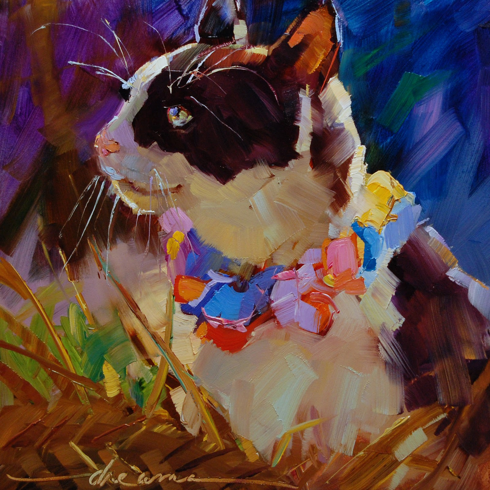 """""""To All the Cats Ed's Loved Before  SOLD"""" original fine art by Dreama Tolle Perry"""
