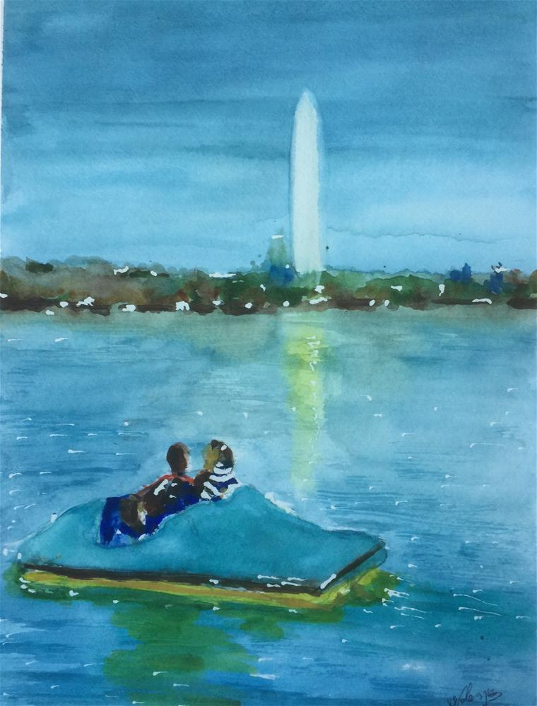 """Spring in the Air"" original fine art by Juan Velasquez"