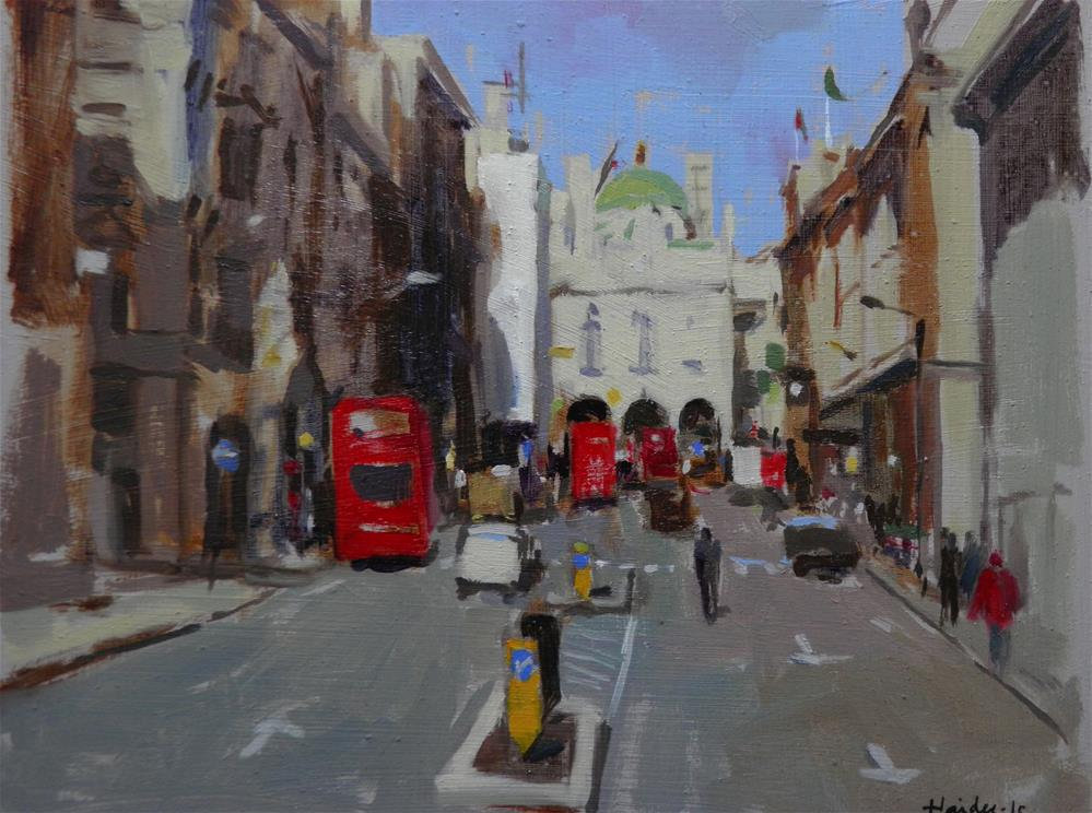 """Towards Pall Mall"" original fine art by Haidee-Jo Summers ROI"
