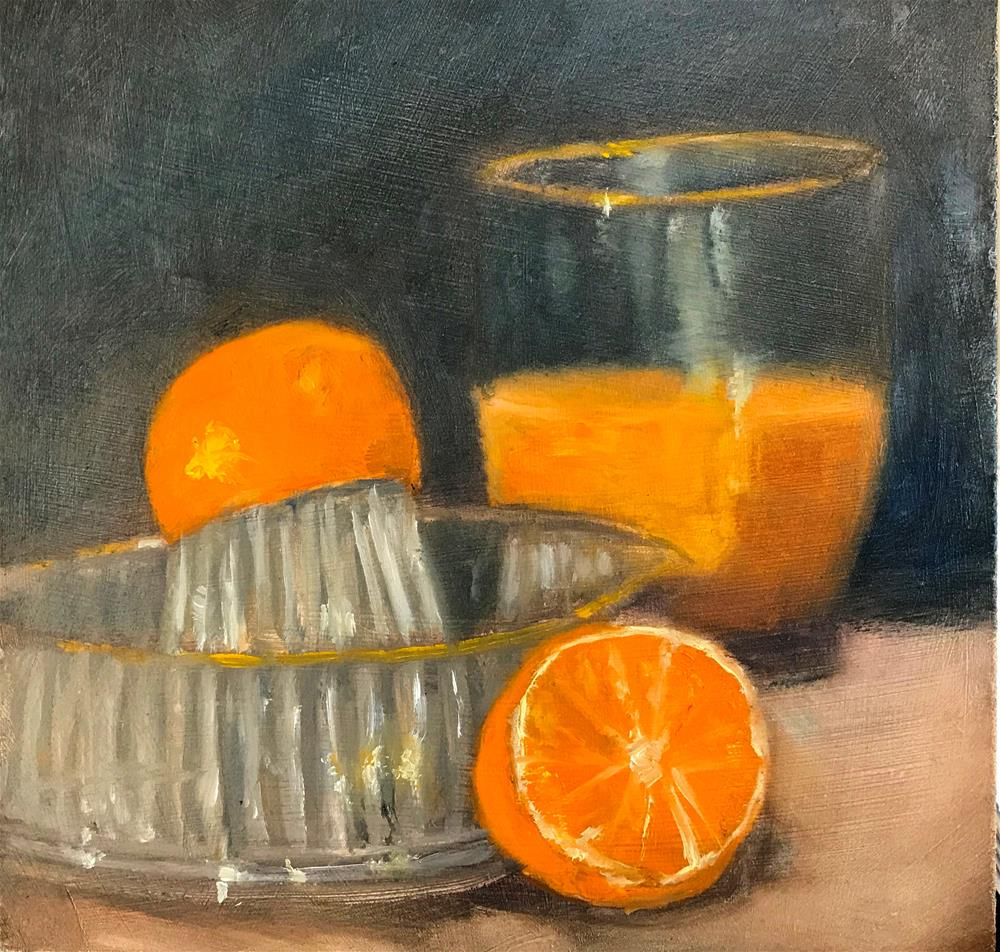 """fresh orange juice"" original fine art by Betty Argiros"