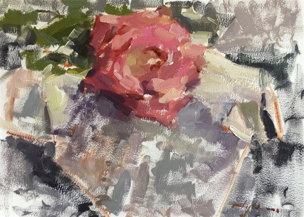 """""""30 days of painting CHALLENGE Day 1"""" original fine art by Katia Kyte"""