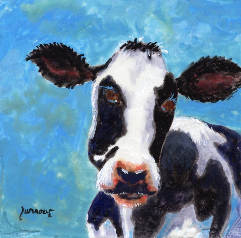 """""""Moma Moo No.2"""" original fine art by Sue Furrow"""