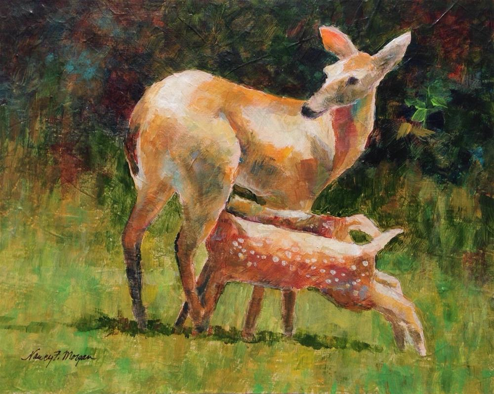"""Twins"" original fine art by Nancy F. Morgan"