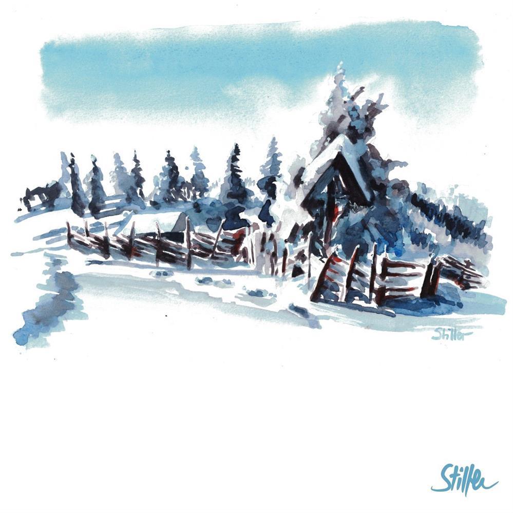 """""""3403 Winterland 2"""" original fine art by Dietmar Stiller"""