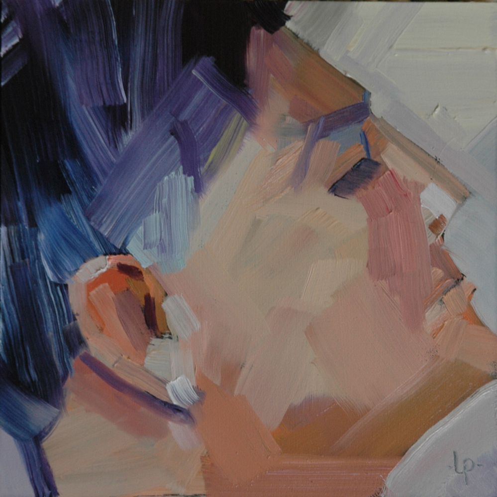 """""""FACE No. 37"""" original fine art by Linda Popple"""