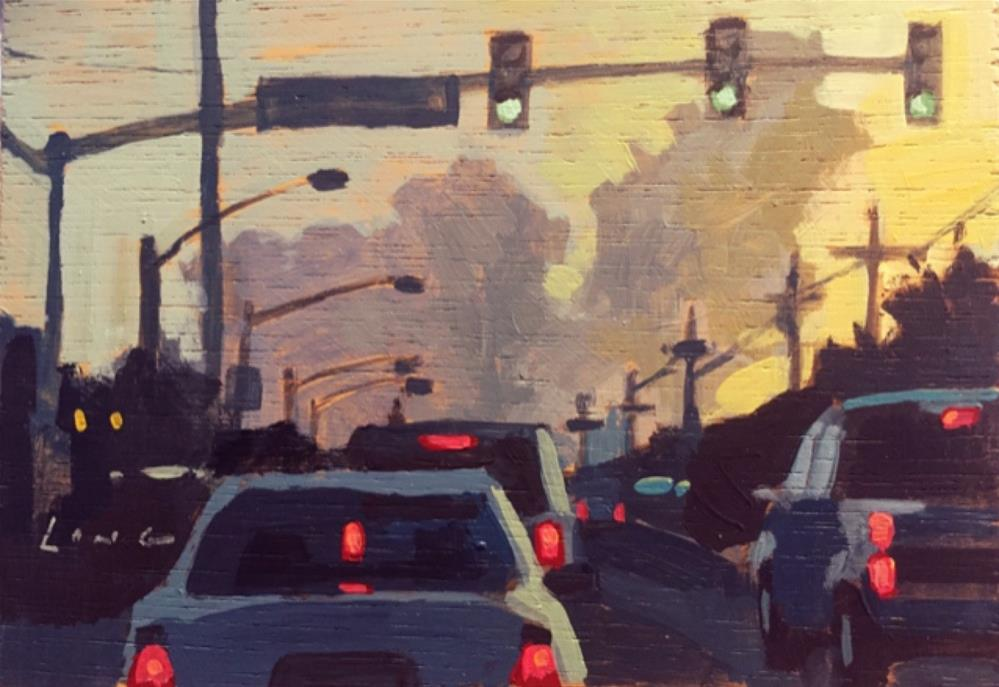 """Carrollton Street"" original fine art by Chris Long"