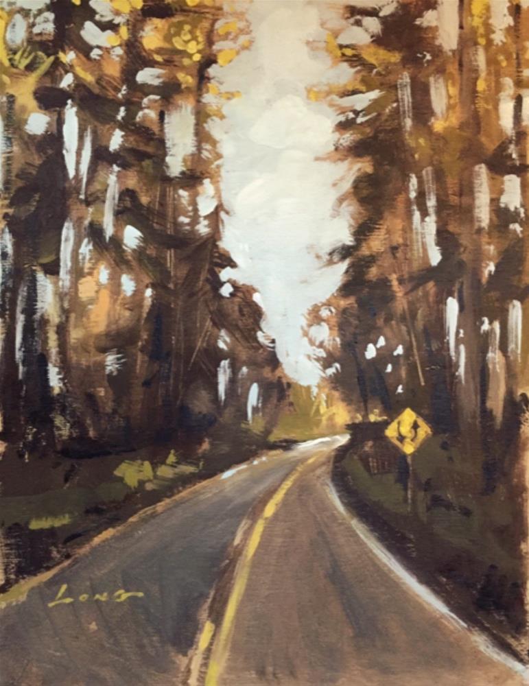 """Oregon Road"" original fine art by Chris Long"