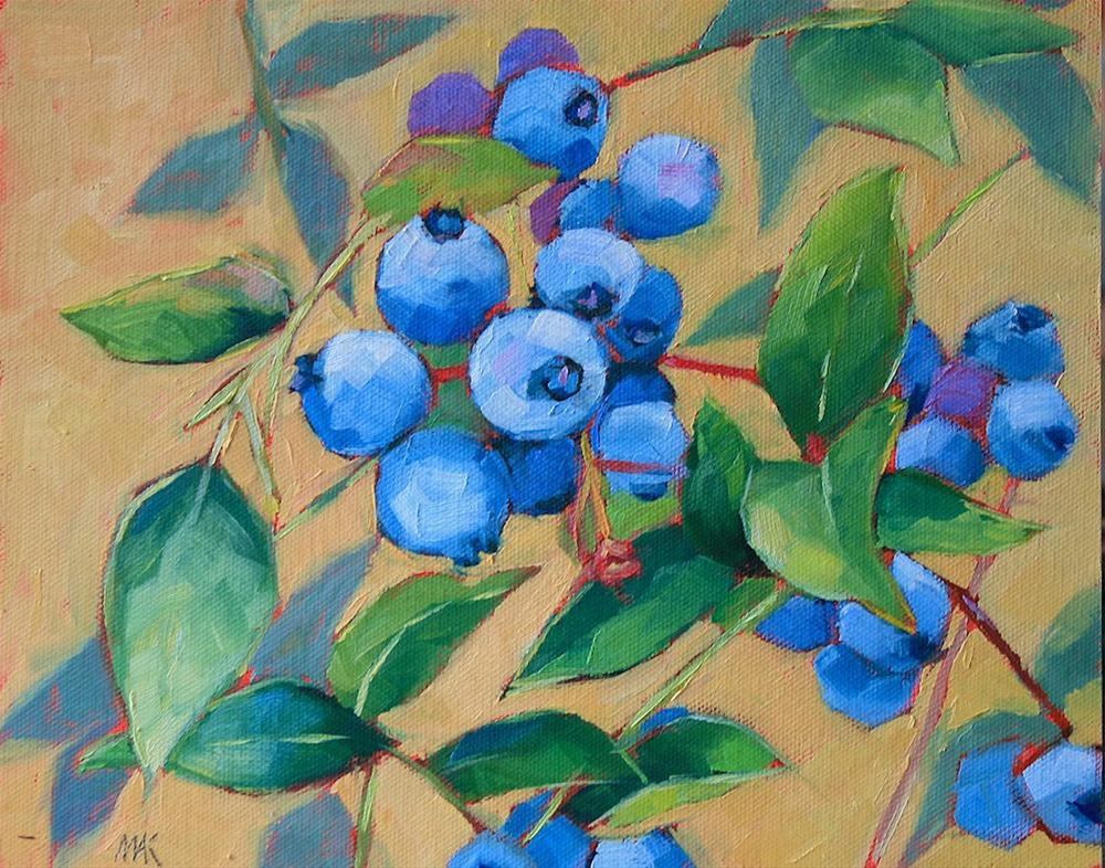 """""""Maine Blues"""" original fine art by Mary Anne Cary"""
