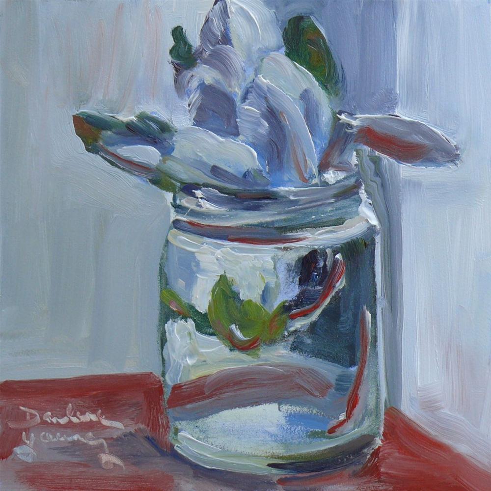"""""""536 Magnolia in a Jar"""" original fine art by Darlene Young"""
