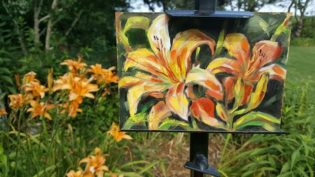 """Daylily Dance"" original fine art by Tammie Dickerson"