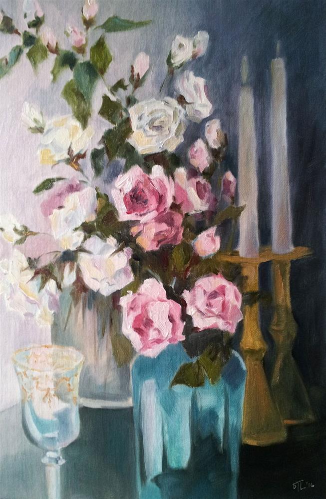 """DCS# 19 - Romantic evening"" original fine art by Olga Touboltseva-Lefort"