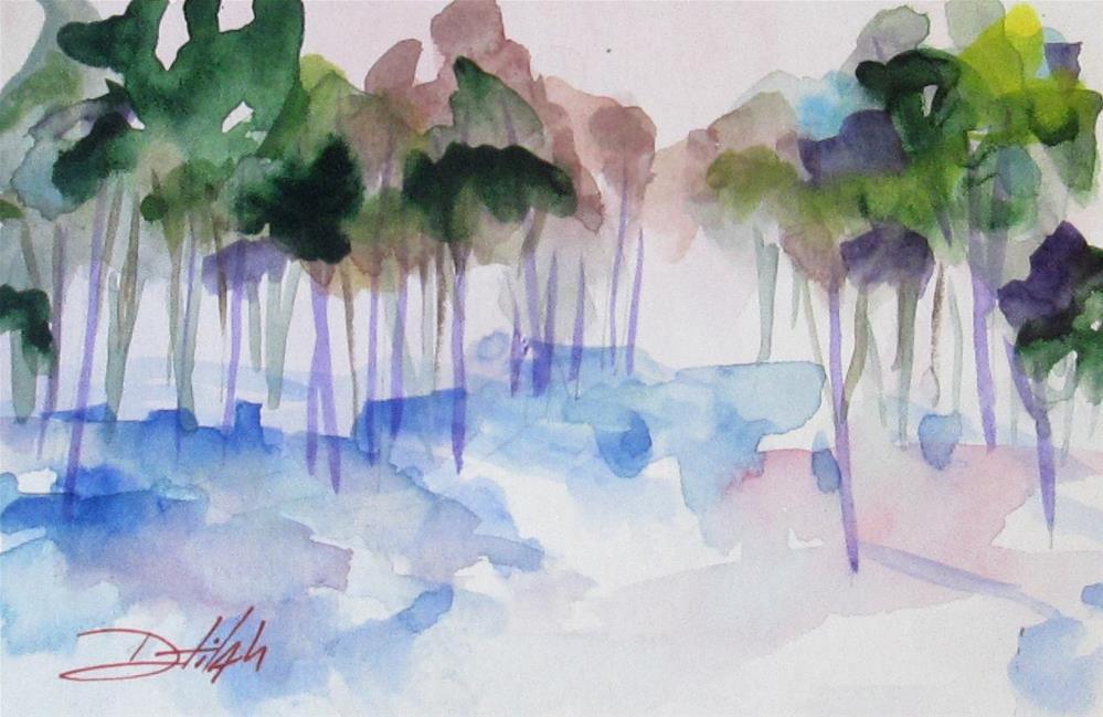 """""""Romantic Landscape"""" original fine art by Delilah Smith"""