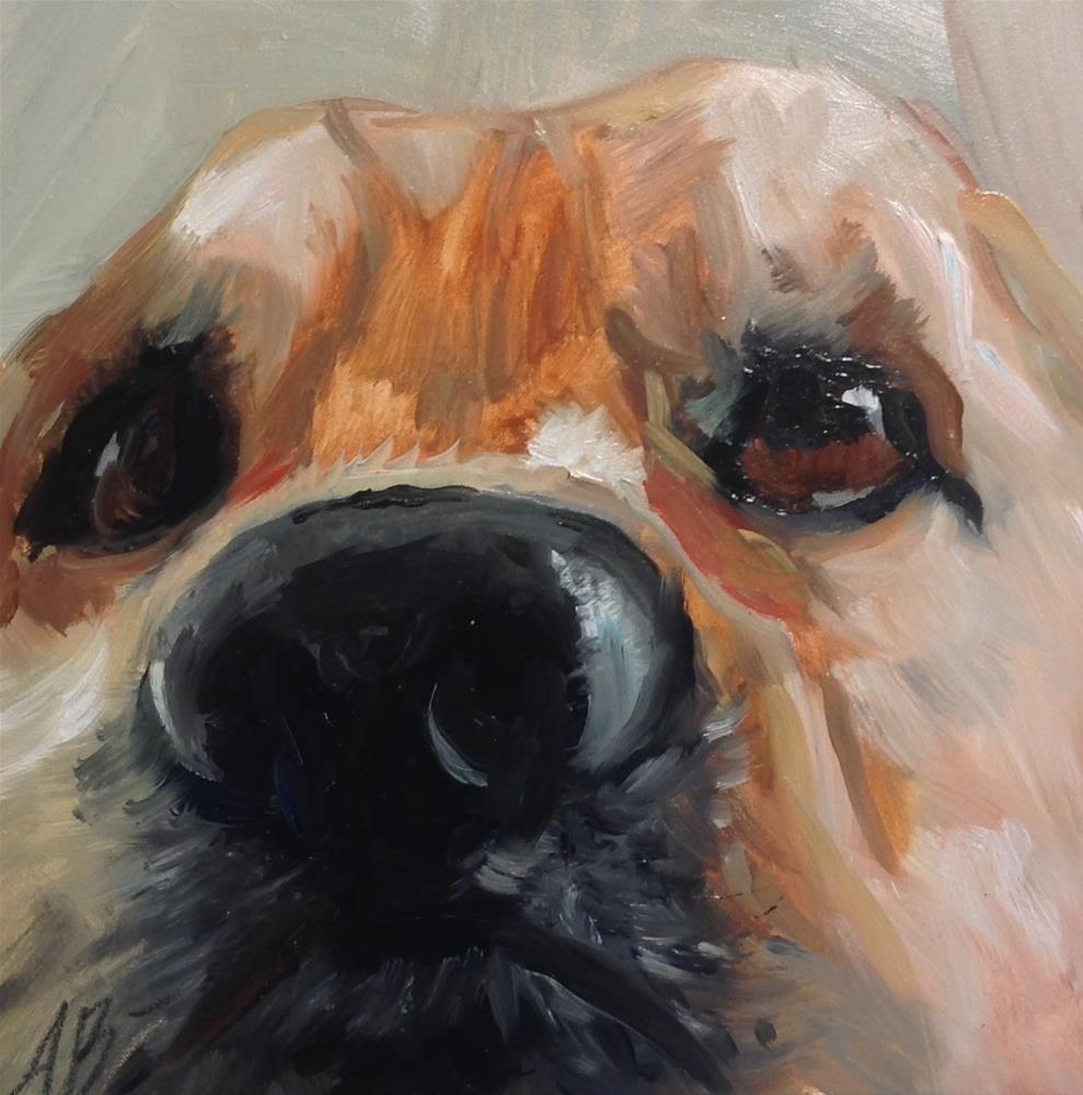 """Happy wet nose"" original fine art by Annette Balesteri"