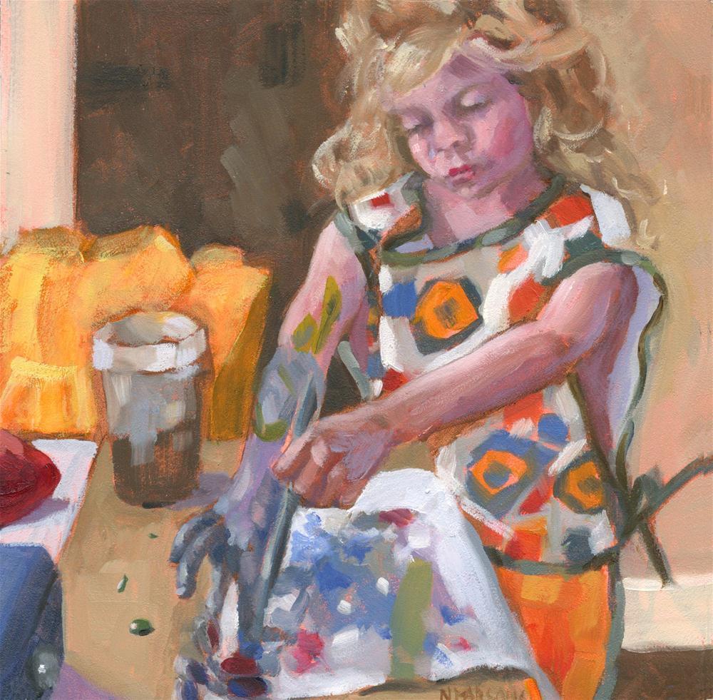 """Outside The Lines"" original fine art by Nancy Parsons"