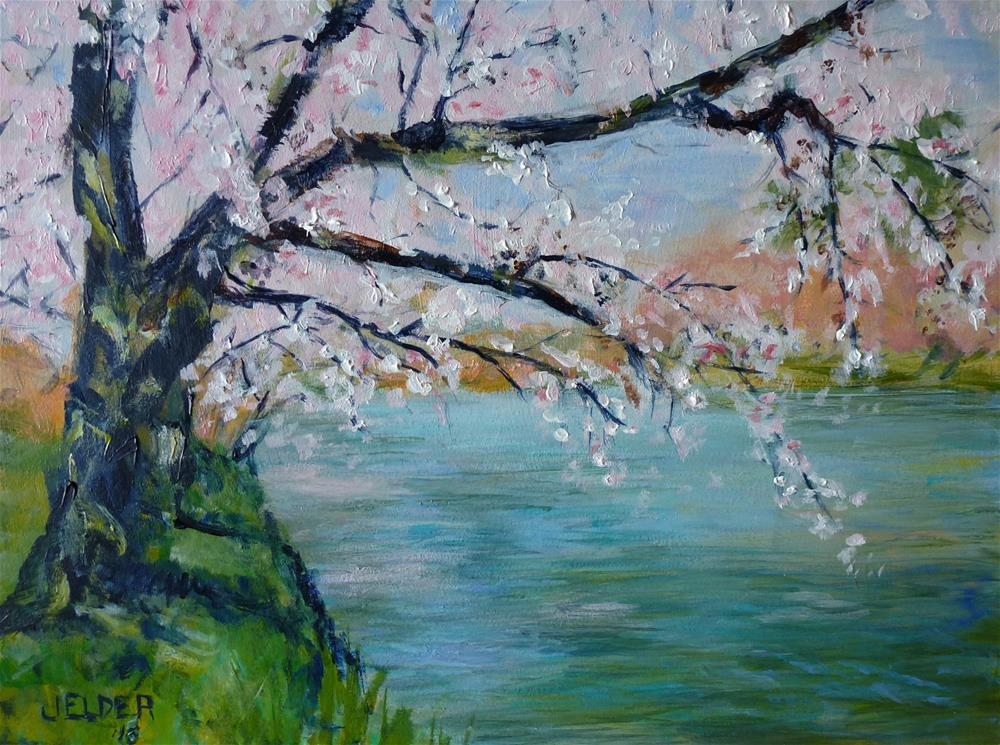 """Sakura"" original fine art by Judith Elder"