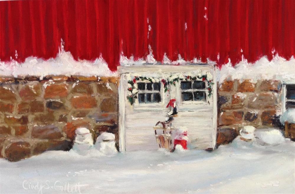 """Happy Holidays!"" original fine art by Cindy Gillett"