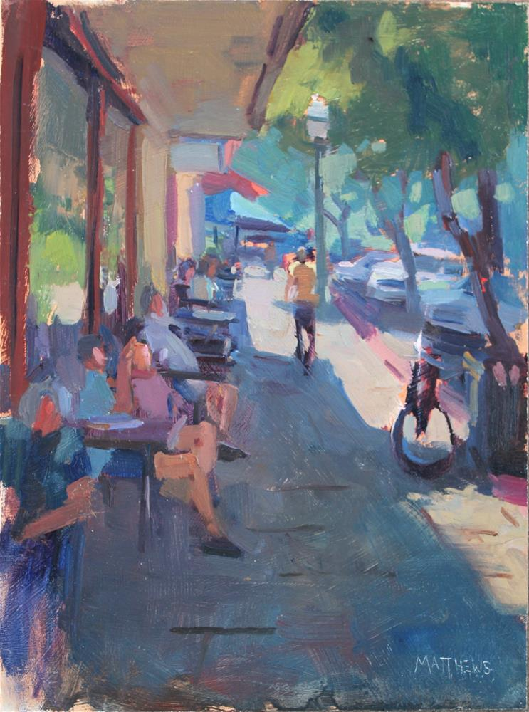 """Enjoying the Shade in Livermore"" original fine art by Kristian Matthews"