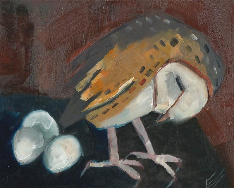 """""""Barn Owl Nest"""" original fine art by Elizabeth See"""
