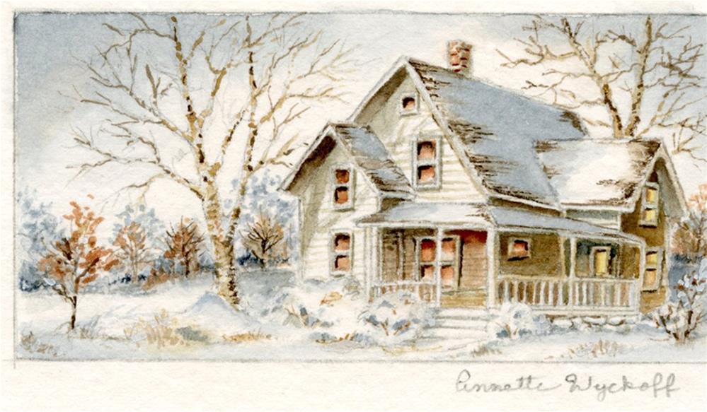 """""""Winter Evening"""" original fine art by Annette Wyckoff"""