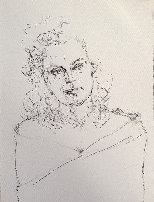 """Drawing #1-21"" original fine art by Katie Wilson"