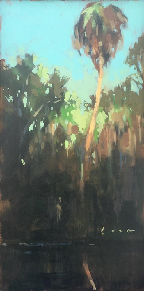 """Palm Reflection"" original fine art by Chris Long"