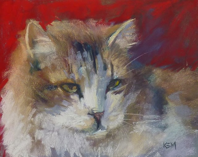 """""""Painting Cats and Dogs in Pastel"""" original fine art by Karen Margulis"""