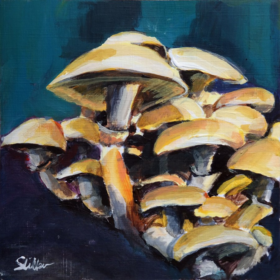 """1895 Mushroom Season"" original fine art by Dietmar Stiller"