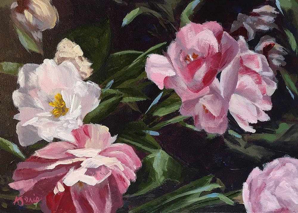 """Pops of Pink"" original fine art by Andrea Jeris"
