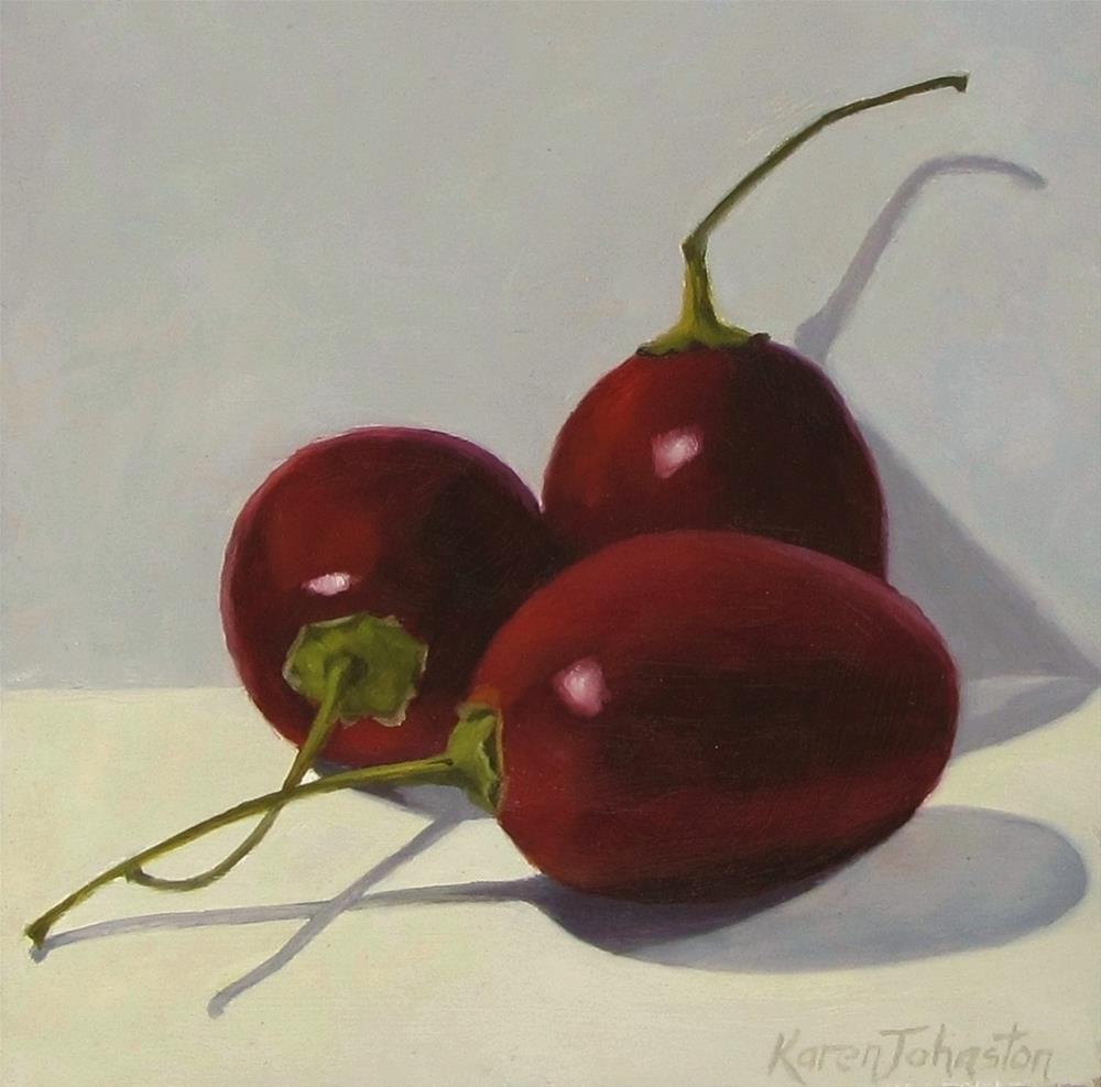 """Tamarillos"" original fine art by Karen Johnston"