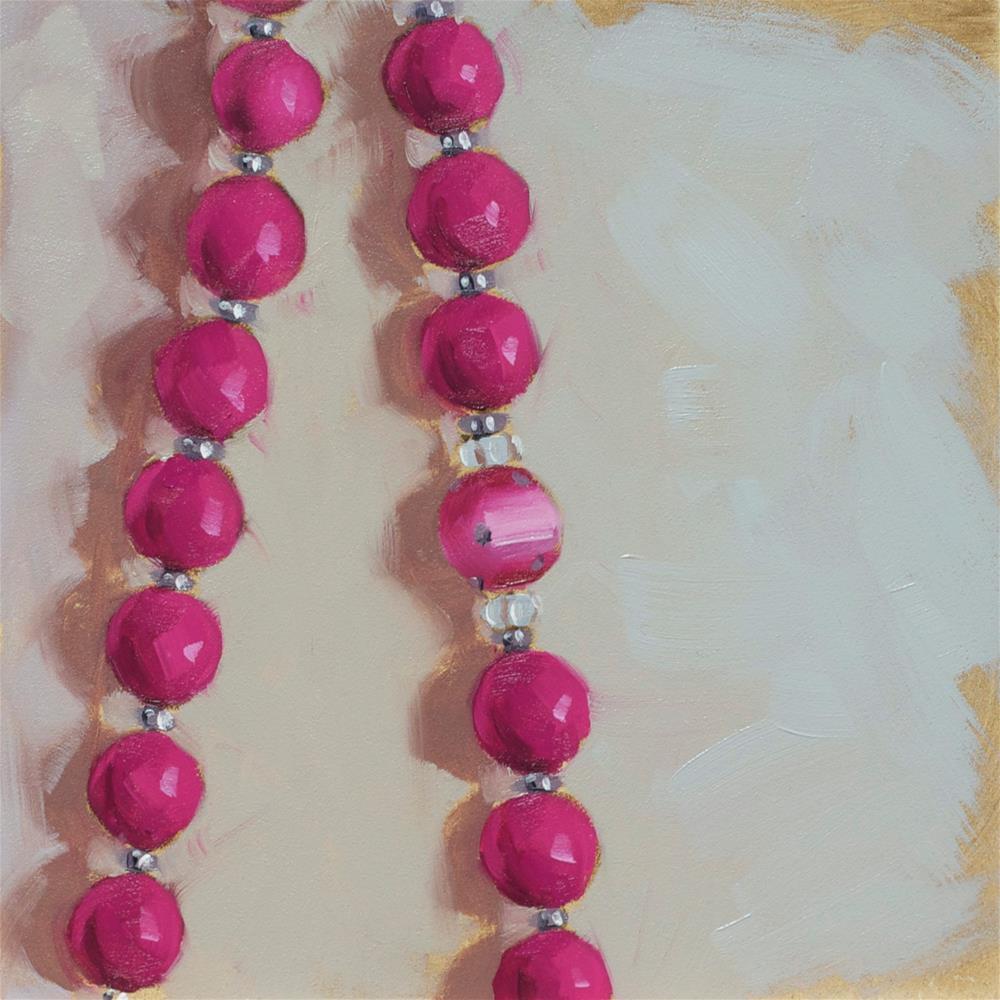 """Vintage Beads"" original fine art by Heather Bullach"