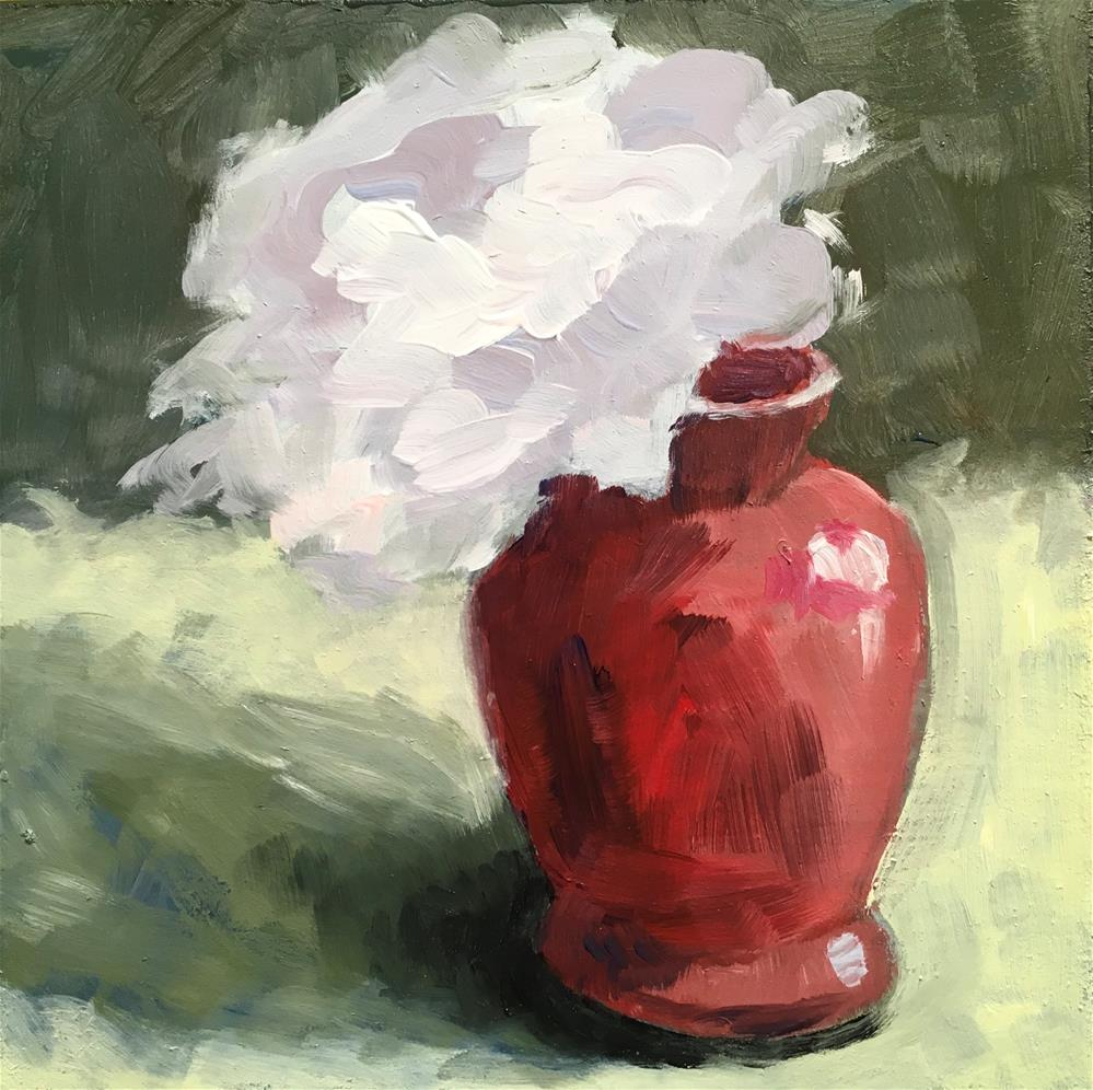 """287 Red Vase"" original fine art by Fred Bell"
