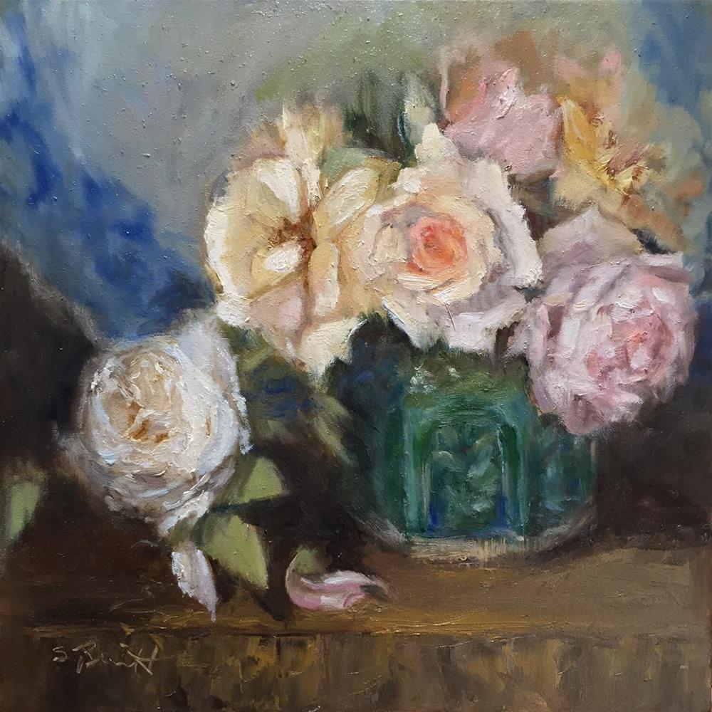 """""""Heirlooms and stoneware"""" original fine art by Sherri Burritt"""