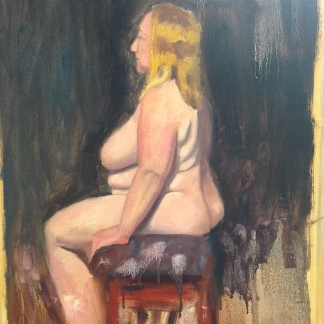 """Lisa Seated"" original fine art by Karen D'angeac Mihm"