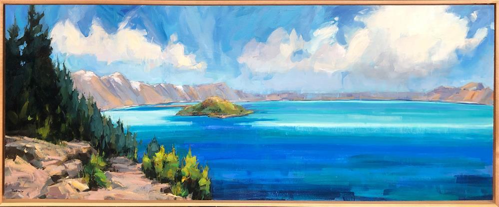 """Wizard Island"" original fine art by Cathleen Rehfeld"