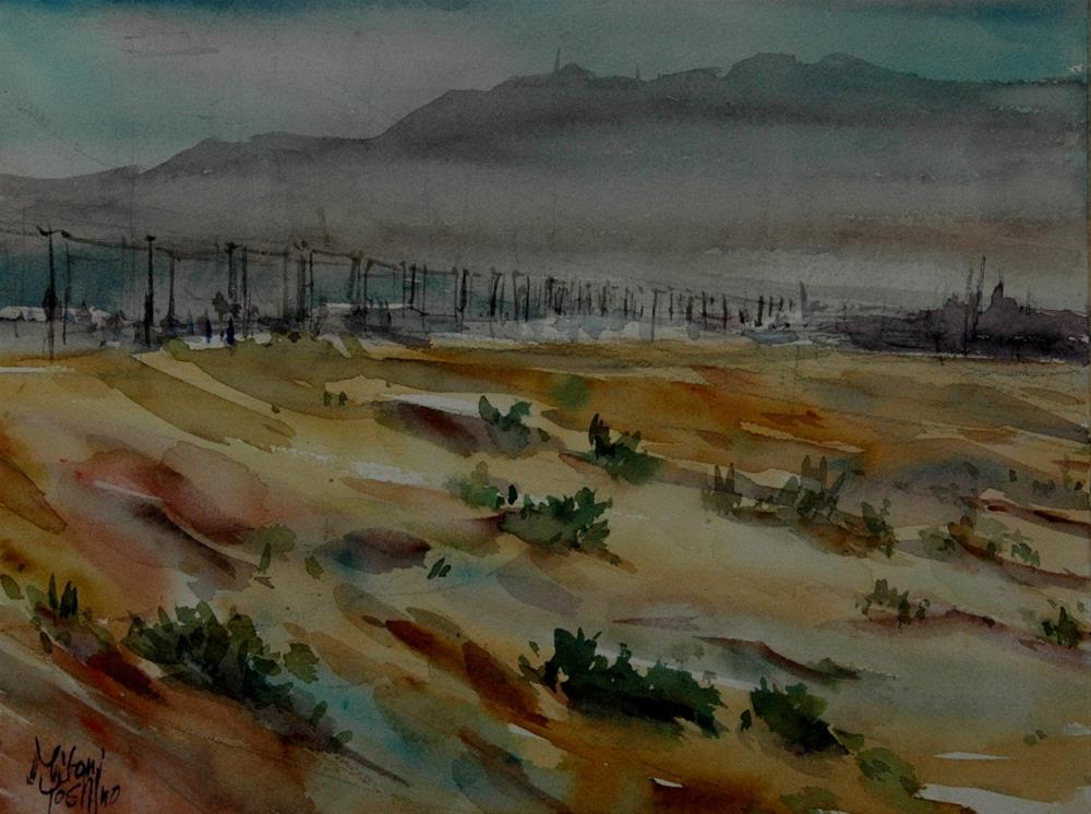 """Zakher area in Al Ain"" original fine art by Midori Yoshino"
