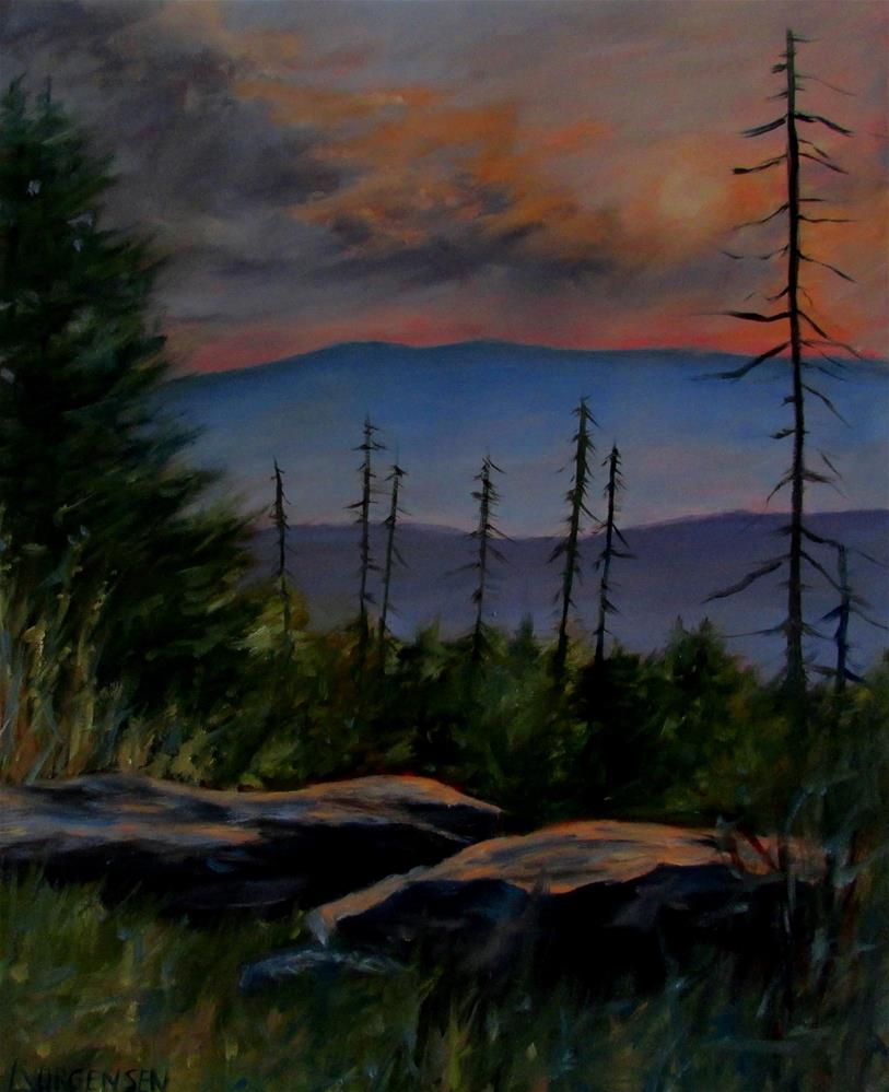 """16 x 20 inch oil On Top of the World"" original fine art by Linda Yurgensen"