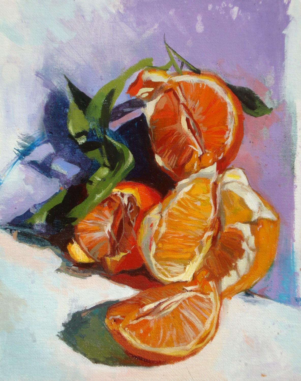 """""""Piled up fruits"""" original fine art by Víctor Tristante"""